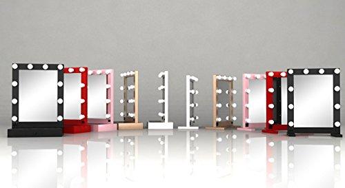 hollywoodspiegel schminkspiegel tm100 wei mit led beleuchtung ohne schublade von evervue bei. Black Bedroom Furniture Sets. Home Design Ideas