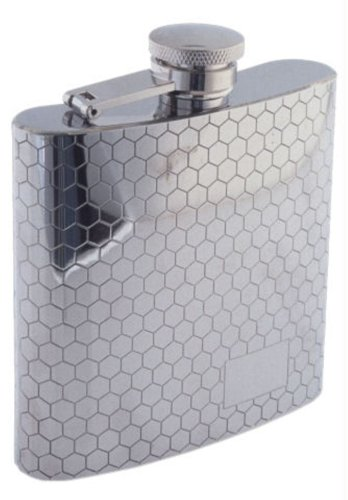 Colonel Conk Sunstar Model 1007 Rimless Flask with Honeycomb Pattern, 6 oz