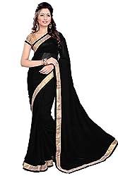 Hari Krishna Sarees Black georget saree