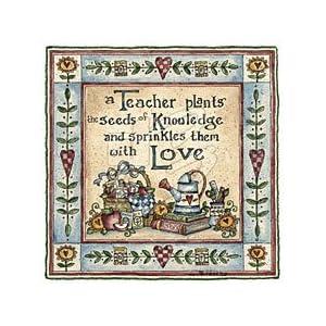 A Teacher Plants The Seeds Womens Scoop Neck T-Shirt