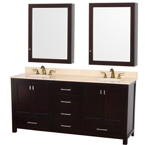 Wyndham Collection Abingdon 72-in. Double Bathroom Vanity Set Color - Espresso