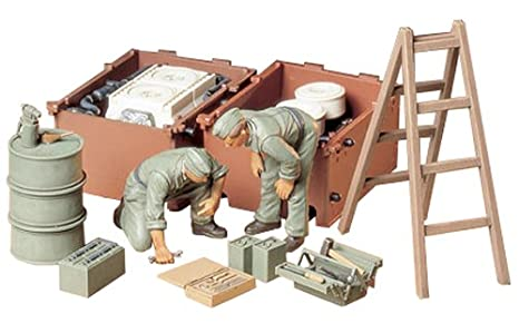 Tamiya maquette - 35180 - Mecaniciens Allemands