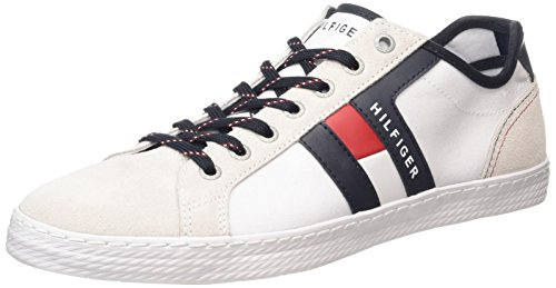 Tommy Hilfiger D2285ONNIE 9D Scarpe Low-Top, Uomo, Bianco (White 100), 43