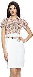 Texco Garments Women's A-Line Dress (21, Orange, M)