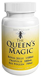 Eden Pond Queen's Magic Bee Pollen Capsules, 120 Count