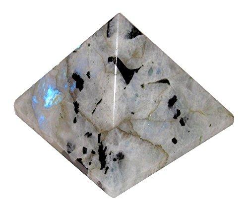 Moonstone Pyramid White 13 Premium Rainbows Crystal Tourmalinated Sacred Geometry 3
