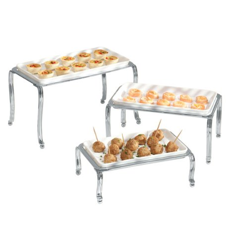 Ceramic Buffet Trays Chrome