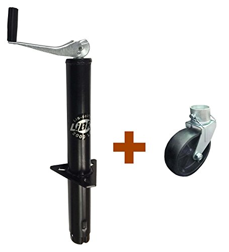 New LIBRA 2000 lbs A Frame Topwind Trailer Camper RV Tongue Jack with 6