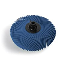 JoolTool Scotch-Brite Blue Radial Bristle Brush Assembled with Plastic Tapered Mandrel Hub, Grit 400