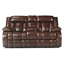 Hot Sale Chestnut Double Recliner Loveseat w/Console by Ashley Furniture
