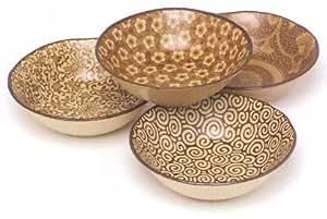 """Miya S/4 5.5"""" Bowls-sepia"""
