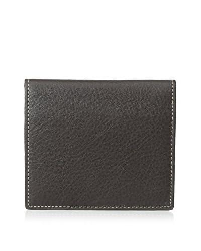 Leone Braconi Men's Nappa Merino Leather Bi-Fold Card Case
