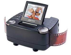 JAY-tech - Escáner de negativos y diapositivas (sensor de imagen CMOS de 5,1 MP, resolución de 10 MP, pantalla LTPS LCD de TFT de 6,1 cm (2,4