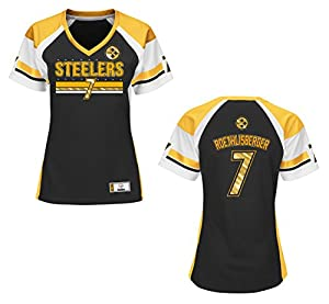 Pittsburgh Steelers Ben Roethlisberger Black Draft Him Women's Fashion Top from SteelerMania