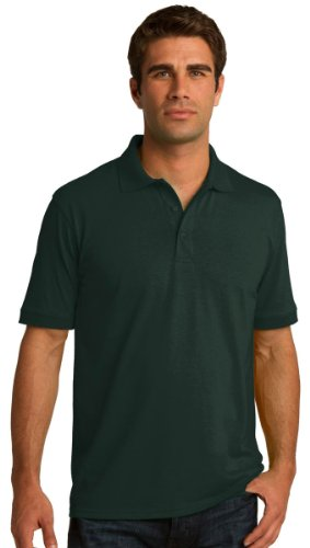 Port & Comapany Men'S Big And Tall Knit Polo Jersey_Dark Green_Xx-Large Tall