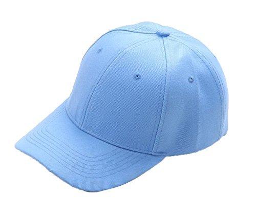 JUST MODEL Unisex Cotton Cap Adjustable Plain Hat Blue