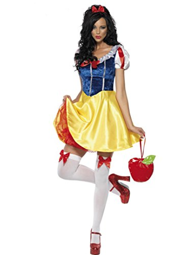 [Snow White Costume Cosplay Halloween Costumes For Women Fancy Party Dress (L)] (Snow White The Queen Costume)