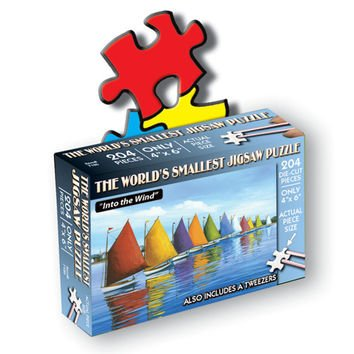 TDC Games 204-Piece Jigsaw Puzzle, 4 by 6-Inch, World's Smallest, Into the Wind