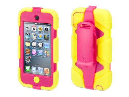 Griffin Citron/Pink Survivor Case + Belt Clip for iPod touch (5th/ 6th gen.) - Extreme-duty case (Ebay Ipod 5 compare prices)