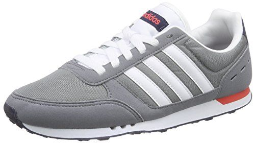 Adidas Herren Neo City Racer Laufschuhe, Mehrfarbig (Grey/Ftwwht/Brired), 44 EU thumbnail