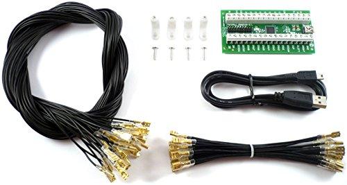 Ultimarc I-PAC 2, codificatore tastiera, con cavo USB & kit cablaggio, nuova edizione 2015