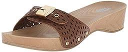 Dr. Scholl\'s Women\'s Classic Platform Slide Sandal, Dark Saddle Chopout, 8 M US