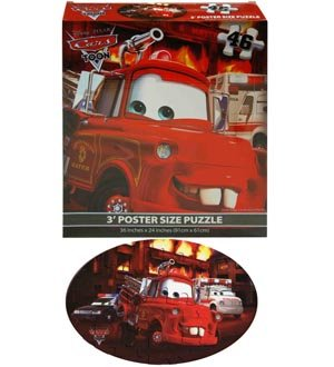 Disney Cars Floor Puzzle BLUE