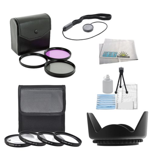 Sse 7Pc 58Mm Filter Set For The Canon Eos Rebel T5I, T4I, 650D, T3I, T2I, Sl1, 60D, 70D. 700D, Xs, Xsi Digital Slr Cameras Which Have Any Of These (18-55Mm, 75-300Mm, 55-250Mm) Canon Lenses