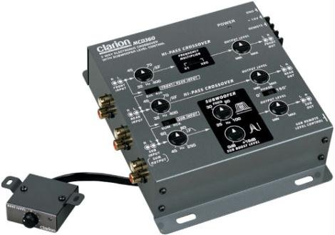 Clarion Mcd360 3 Way 6 Channel Electronic Crossover With Subwoofer Control