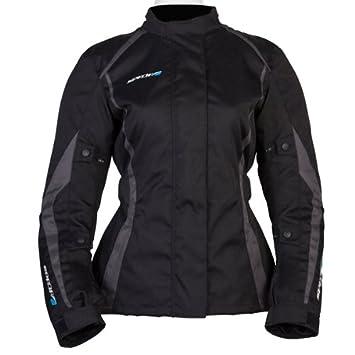 Nouveau 2015 Spada moto Textile veste planète dames noir/gris