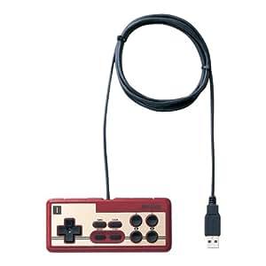 iBUFFALO USB接続 8ボタンゲームパッド デジタル 連射機能付 ファミコン風 レッド BGCFC801RDA