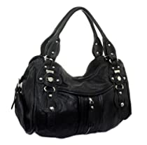"Hot Sale Big Hobo: ""Bonita"" NYC Hobo Women's Handbag Trendy 2013 Black"