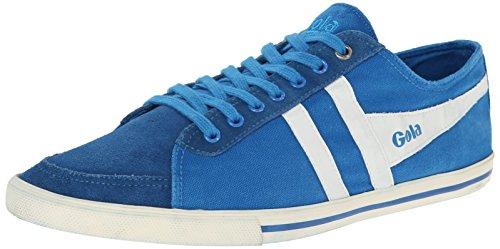 Gola Men's Quota Fashion Sneaker, Electric Blue/White, 10 M US