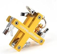 DOPPELGANGER(ドッペルギャンガー) ツールキット DA011TK 自転車用8種 携帯ツールセット アルミフレーム アルマイト加工 [カラビナ付属]