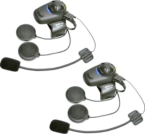 Sena Bluetooth Headset And Intercom Kit With Built-In Fm Tuner For Open-Face/Flip-Up Helmet - Pack Of 2