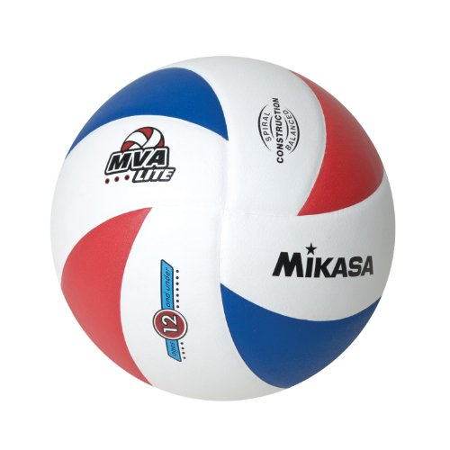 Mikasa Lite 8 Panel Official 12 and under Volleyball (Red/White/Blue, Official)