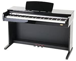 Classic Cantabile DP-40 SH Digitalpiano mit 88 Tasten, hochglanz schwarz