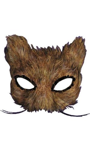 Costumes For All Occasions Ti55 Mask Cat Feather Natural