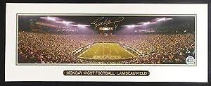 Brett Favre Green Bay Packers Signed Photo 18 X 7 Mnf Pano Mini Favre Coa -... by Sports Memorabilia