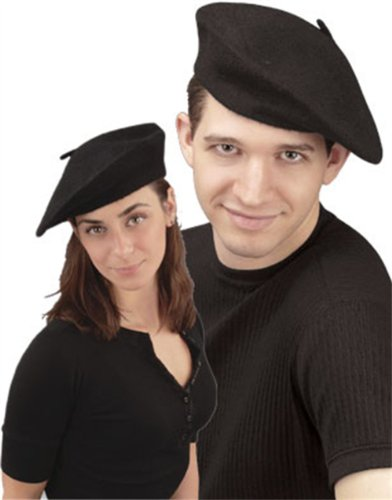 Forum Women's Novelty Adult French Beret, Black, One Size - 1