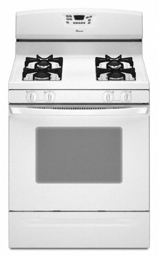 Amana 5.0 Cubic Foot Self-Cleaning Gas Range, Agr5844Vdw, White front-7754