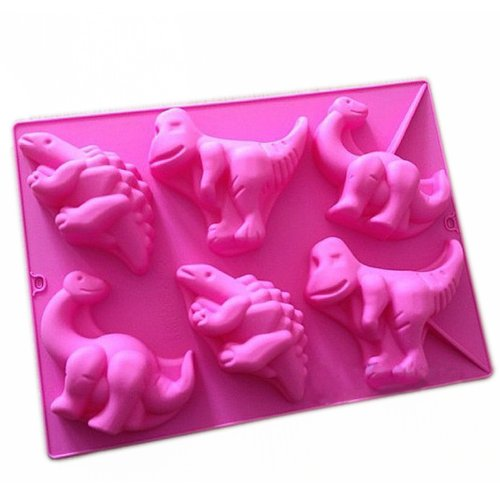 Wholeport Dinosaur Shape Silicone Baking Cake Mold Candle Mold