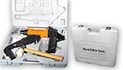 Hardcore Tools® Dual HARDWOOD FLOORING AIR Flooring Cleat Nailer / Stapler Gun Kit by Hard Core Tools-By SterlingTek