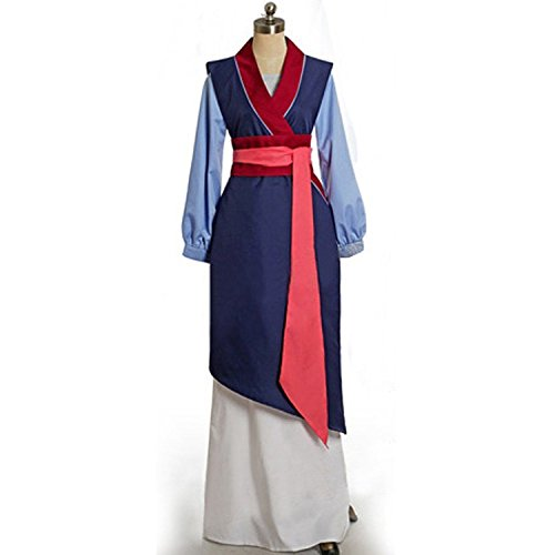 [Kmoac Princess Mulan Cosplay Blue Costume Halloween Fancy Dress Custom-Medium] (Adult Mulan Costumes)