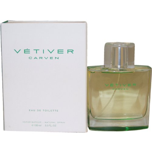 Vetiver Carven (Relaunch) by Carven for Men – 3.3 oz EDT Spray