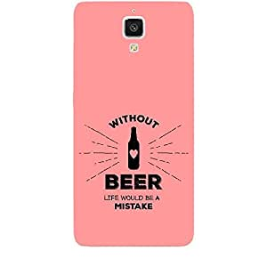 Skin4gadgets Awesome Wine & Dine Quotes, Pattern 42, Color - Cyan Phone Skin for MI 4