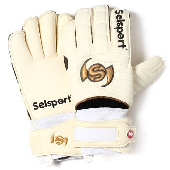 Selsport Absorb Classic Unisex Football Goalkeeper Glove - White, Size 8