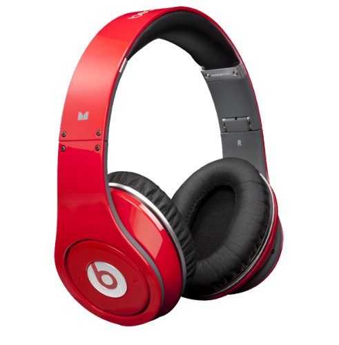 Monster  Beats by Dr. Dre Studio High-Definition Headphones (Red)