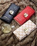 レディース 長財布 おしゃれで 可愛い リボン型ホック エナメル 花柄の 型押し加工 防水性 使いやすい財布 風水 金運財布 白/ベージュ