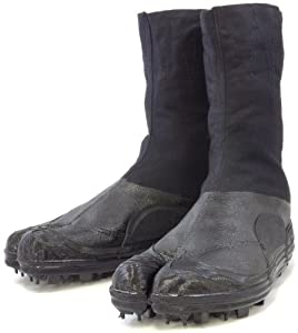 Spike Tabi Shoes, Jikatabi boots, Rikio Durable Tabi Ninja Boots (JP 25cm US Men Size 7 Women Size 8)